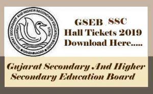 GSEB 10th Hall ticket 2019, GSEB SSC Hall ticket 2019, Gujarat Board Hall ticket 2019, GSEB Hall ticket 2019