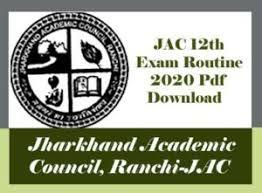JAC 12th Exam Routine 2020, JAC 12th Time table 2020, JAC Intermediate Routine 2020, JAC Routine 2020