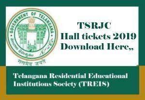 TSRJC Hall ticket 2019, TSRJC Hall ticket Download 2019, TSRJC Hall tickets 2019, TSRJC 2019 Hall ticket