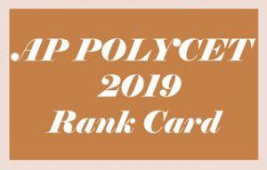 AP POLYCET Rank card 2019, AP POLYCET Rank card Download 2019