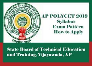 AP POLYCET Syllabus 2019, AP POLYCET Exam pattern 2019, AP POLYCET 2019 How to Apply