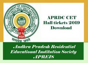 APRDC Hall ticket 2019, APRDC Hall ticket Download 2019, APRDC CET Hall ticket 2019