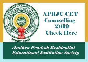 APRJC Counselling 2019, APRJC 2019 Counselling, APRJC Counselling Details 2019