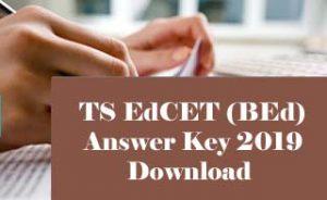 TS EdCET Answer Key 2019, TS BEd Answer Key 2019, TS EdCET 2019 Answer key