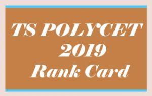 TS POLYCET Rank card 2019, TS POLYCET Rank card Download 2019