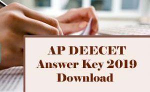 AP DEECET Answer Key 2019, AP DIECET Answer Key 2019, AP TTC Answer Key 2019