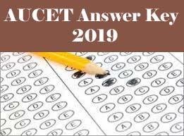 AUCET Answer Key 2019, AUCET Key 2019, AUCET 2019 Answer key