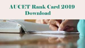 AUCET Rank card 2019 Download