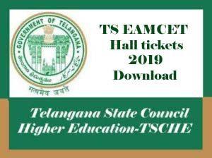 TS EAMCET Hall ticket 2019, TS EAMCET Hall ticket Download 2019, TS EAMCET 2019 Hall ticket Download