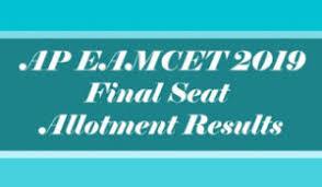 AP EAMCET Seat Allotment 2019, AP EAMCET Seat Allotment Results 2019, AP EAMCET Seat Allotment Order 2019