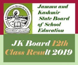 JKBOSE 12th Result 2019, JKBOSE Annual 12th Result 2019, JK Board 12th Result 2019, JKBOSE 12th Class Result 2019
