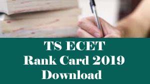 TS ECET Rank card 2019, TS ECET Rank card Download 2019, TS ECET 2019 Rank card