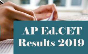 AP EdCET Results 2019, AP EdCET 2019 Results, AP BEd Results 2019, AP EdCET Result 2019