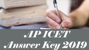 AP ICET Answer Key 2019, AP ICET Key 2019, AP ICET 2019 Answer Key