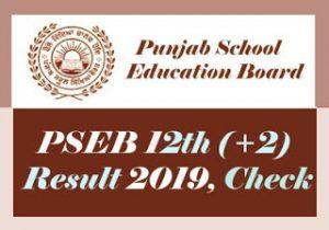PSEB 12th Result 2019 Check, PSEB 12th Class Result 2019, Punjab Board 12th Result 2019, PSEB +2 Result 2019
