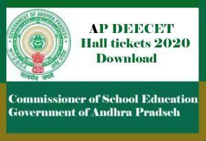 AP DEECET Hall ticket 2020, AP DEECET Hall ticket Download 2020, AP DIETCET Hall ticket 2020
