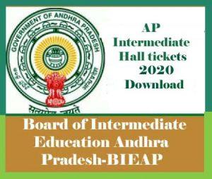 AP Intermediate Hall tickets 2020, AP Inter Hall tickets 2020, Manabadi Inter Hall tickets 2020