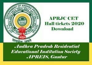 APRJC Hall ticket 2020, APRJC Hall ticket Download 2020, APRJC Hall tickets 2020