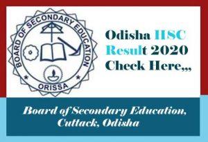 Odisha 10th Result 2020, Odisha 10th Exam Result 2020, 10th Result 2020 Odisha