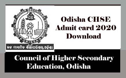 Odisha CHSE Admit card 2020, Odisha +2 Admit card 2020 - jnews in