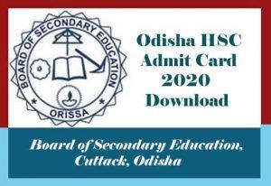 Odisha 10th Admit card 2020 Download, 10th Admit card 2020 Odisha, BSE Odisha 10th Admit card 2020