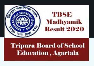 TBSE Madhyamik Result 2020 Date, Tripura Board Madhyamik Result 2020