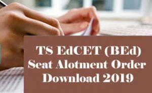 TS EdCET Allotment Order 2019 Download, TS EdCET Seat Allotment 2019, TS EdCET 2019 Allotment Order,