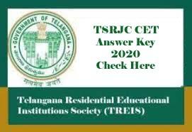 TSRJC Answer Key 2020 Download, TSRJC Key 2020, TSRJC 2020 Answer Key