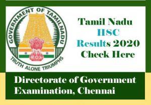 Tamil Nadu HSC Result 2020, TN 12th Result 2020, Tamil Nadu 12th Result 2020
